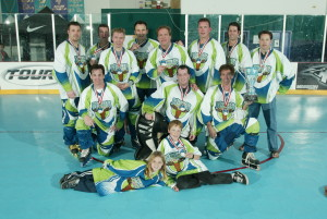 The 35+ Hoser team that won Winternationals in Vegas in 2003. Roster: Marco Thompson, Rich Garvey, Butz, Mike Duffey, Terry Shook, Charley Becker, Rob Chornomud, Dan Maxwell, Donny Thomson, Quin Holmes, Craig Butz, Maukka Arminen