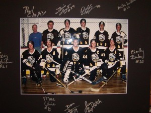 This is the 1993 National championship Hoser team. Back row: Paul Chapey, Marco Thompson, Dennis Amyot, Dan Gyokery Pat Brisson, Mike Leviten. Front Row: Greg Stoike, Marc Cline, Donny Thomson, Jim Hatch, Charley Becker.